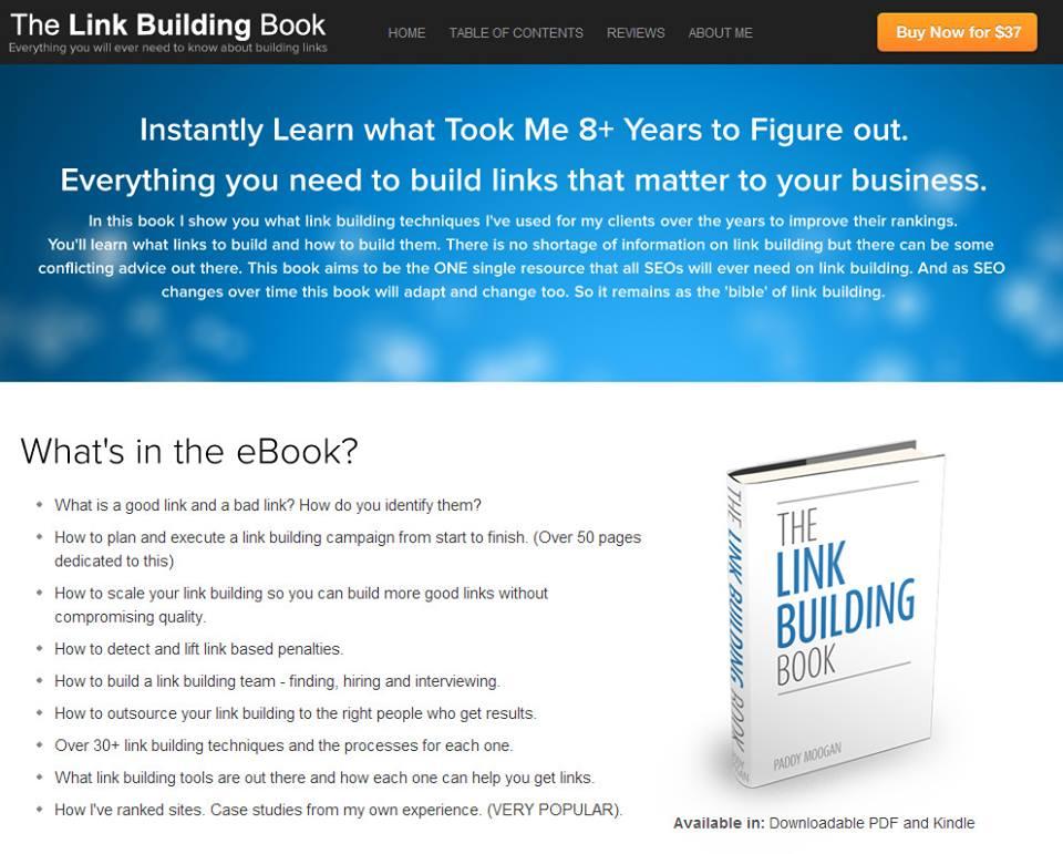كتاب The Link Building Book سعرة 37 $ حمله مجاناً